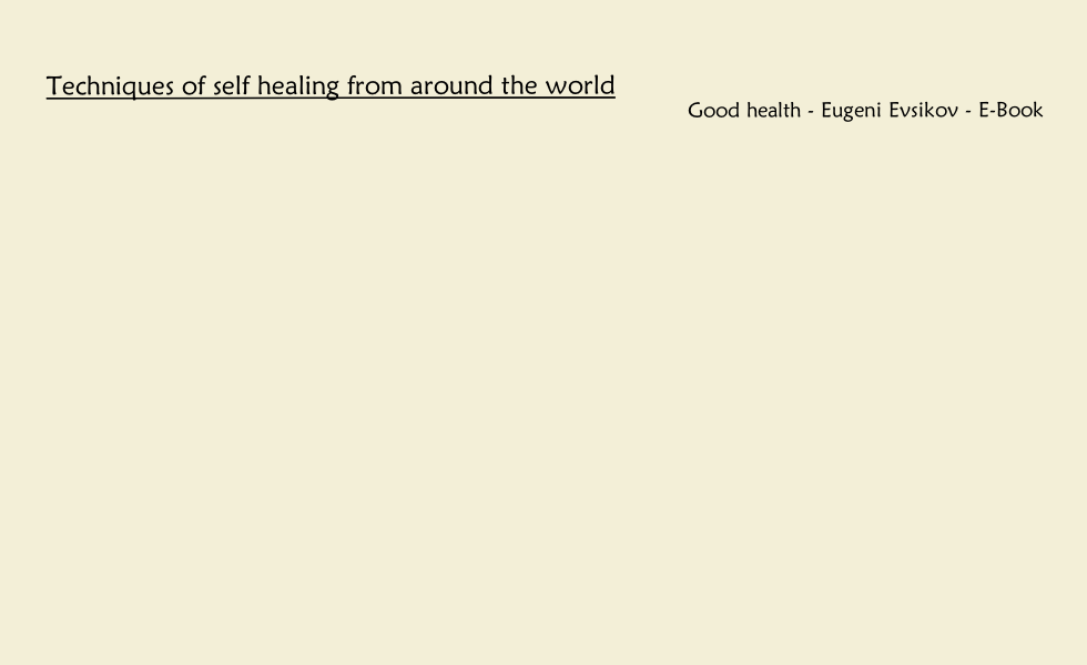 Good health - Eugeni Evsikov - E-Book